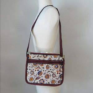 indian print ethnic floral canvas tapestry purse